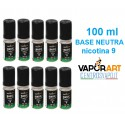 Base Neutra VaporArt 100 ml nicotina 9