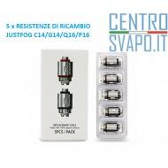 5 Resistenze di Ricambio JUSTFOG C14 - Q16 - P14A - P16A
