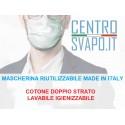 Mascherina RIUTILIZZABILE MADE IN ITALY