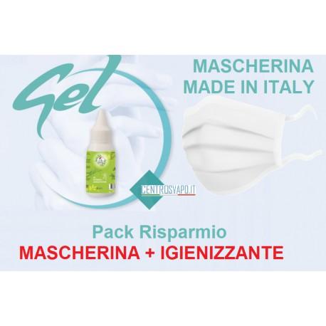 Mascherina + Igienizzante PACK RISPARMIO