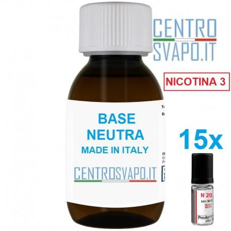 Base Neutra 1 litro nicotina 3