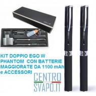 Kit Doppio Completo Ego W 1100 mAh Nero